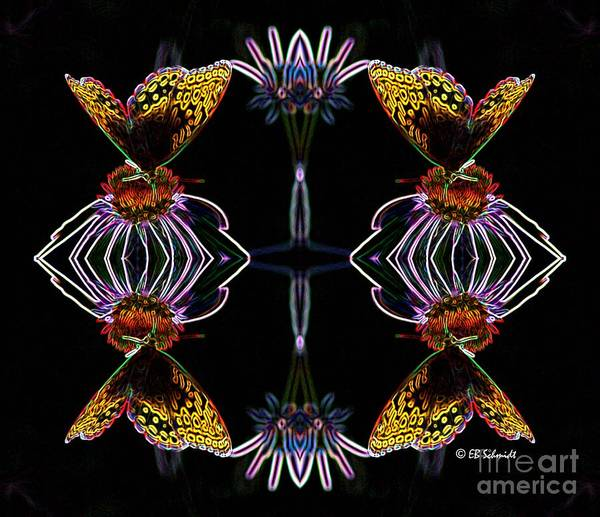 Digital Art - Butterfly Reflections 10  - Great Spangled Fritillary by E B Schmidt
