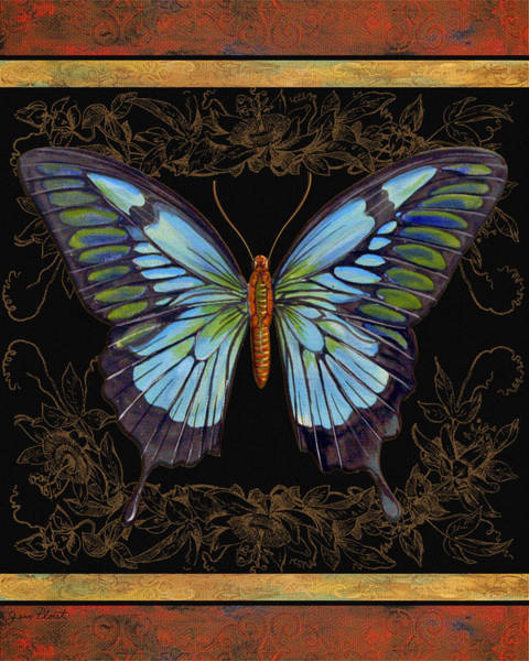 Emboss Wall Art - Painting - Butterfly Treasure-natalie by Jean PLout