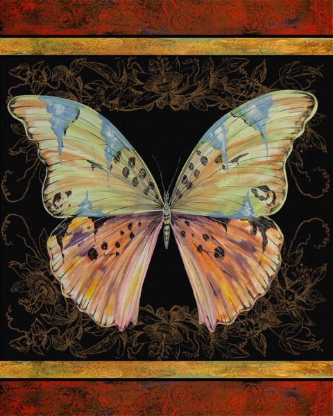 Emboss Wall Art - Painting - Butterfly Treasure-sofia by Jean PLout