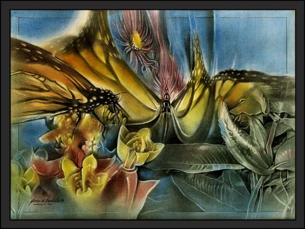 Pastel - Butterflyscape1 '09  by Glenn Bautista