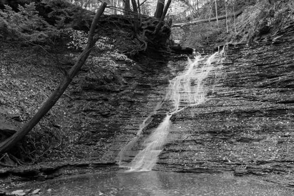 Photograph - Buttermilk Falls Black And White by Clint Buhler