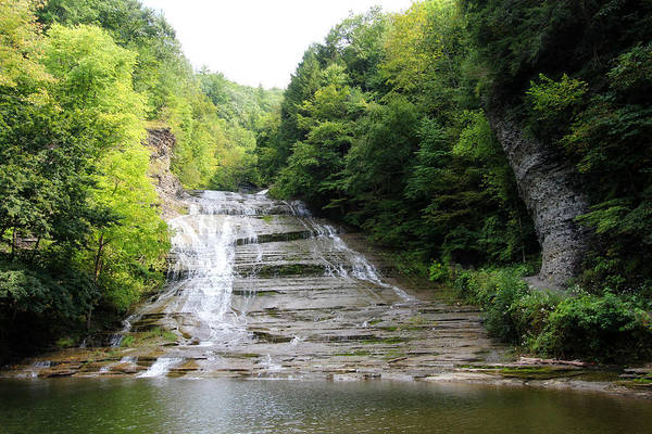 Photograph - Buttermilk Falls by Trina  Ansel