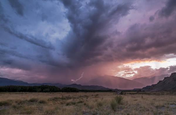 Bishop Photograph - Buttermilks Lightning Strike by Cat Connor