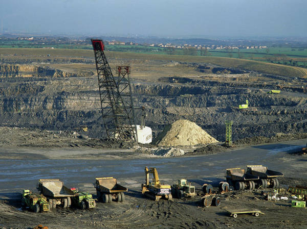 Wall Art - Photograph - Butterwell Opencast Coal Mine by Simon Fraser/science Photo Library