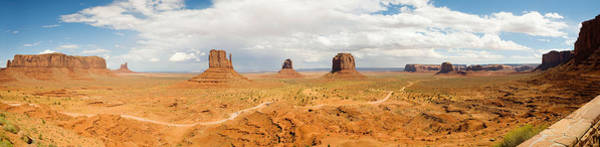The Mitten Photograph - Buttes In A Desert, The Mittens by Panoramic Images
