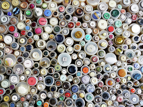 Retail Photograph - Buttons by Rolfo