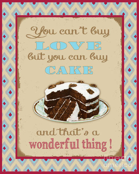 Cake Digital Art - Buy Cake Typography by Jean Plout