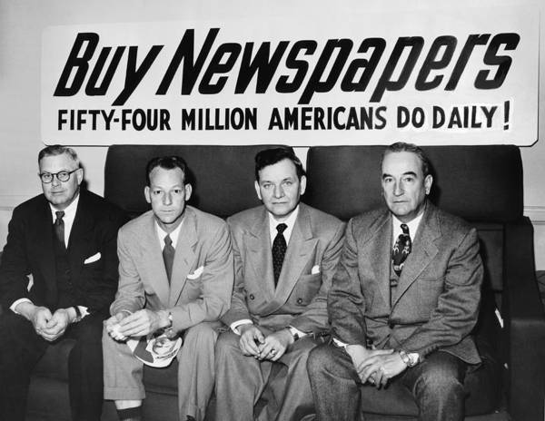 Ft Worth Wall Art - Photograph - Buy Newspapers by Underwood Archives