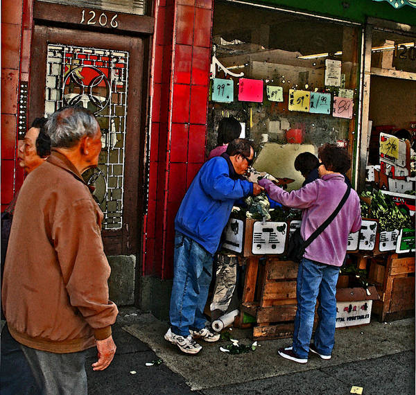 Photograph - Buying Produce by Joseph Coulombe
