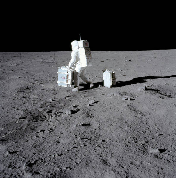 Wall Art - Photograph - Buzz Aldrin On The Moon by Nasa/science Photo Library