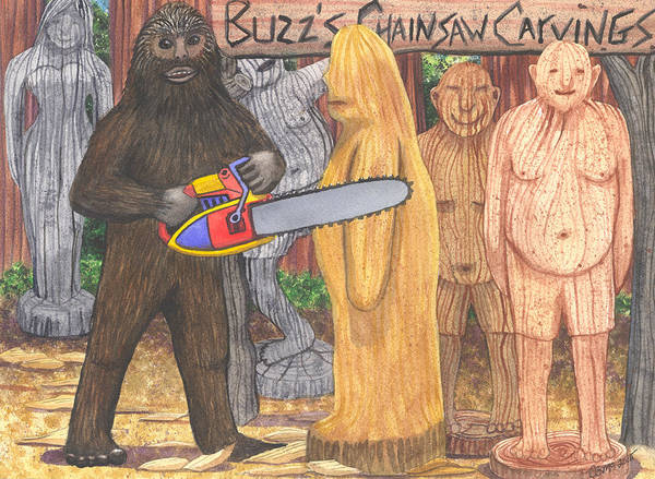 Painting - Buzz Bigfoot by Catherine G McElroy