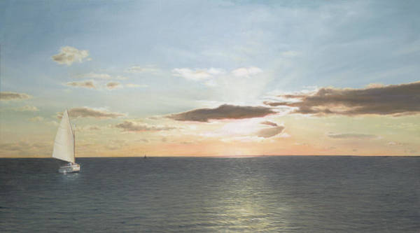 Cape Cod Painting - Buzzards Bay Sunset by Julia O'Malley-Keyes