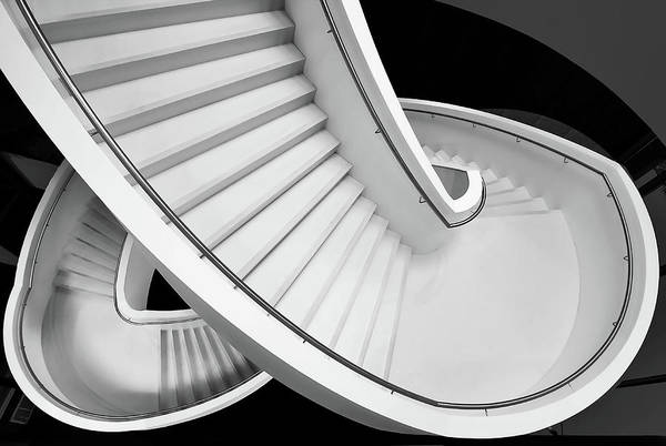 Museum Wall Art - Photograph - B&w Staircase by Henk Van Maastricht