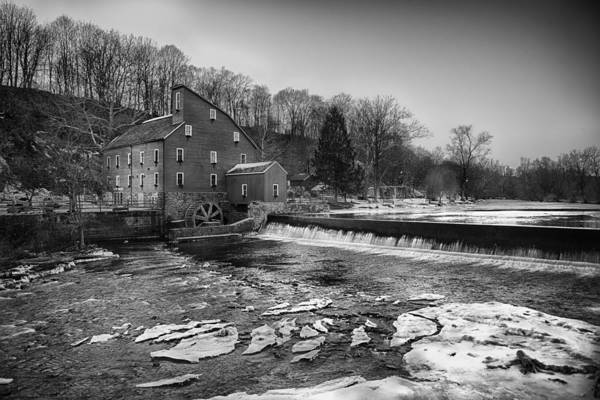 Wall Art - Photograph - Bw Winter Mill by Ryan Crane