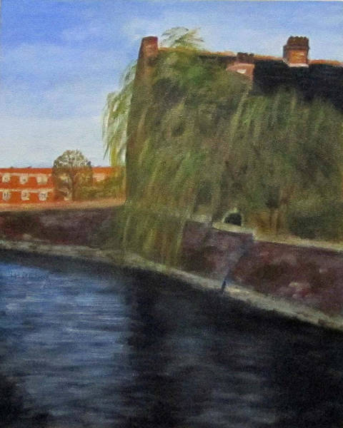 Painting - By The Canal - Leuven Belgium by Linda Feinberg
