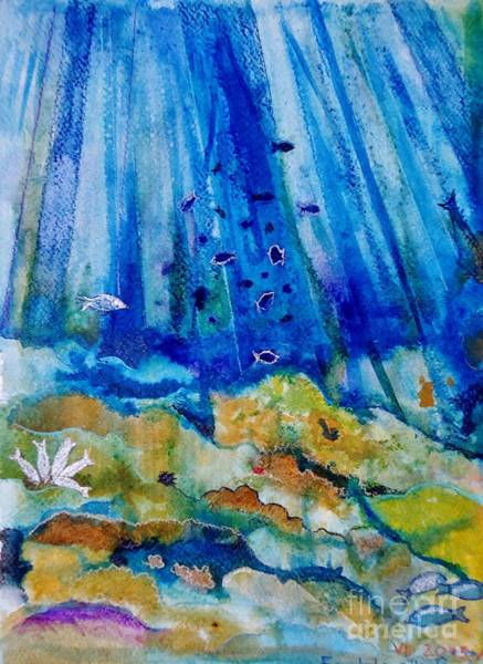 Camogli Painting - By The Deep Sea by Alberta Boato