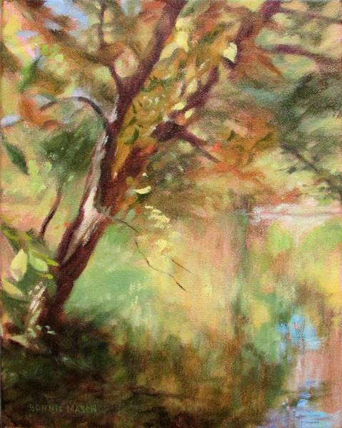 Roanoke Wall Art - Painting - By The Greenway In Autumn- Along The Roanoke River by Bonnie Mason
