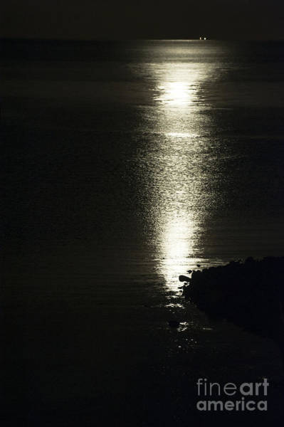 Bristol Channel Photograph - By The Light Of The Silvery Moon by Anne Gilbert