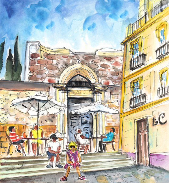 Murcia Painting - By The Old Cathedral In Cartagena 01 by Miki De Goodaboom