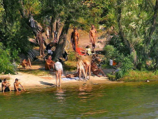 Painting - By The River by Troy Caperton