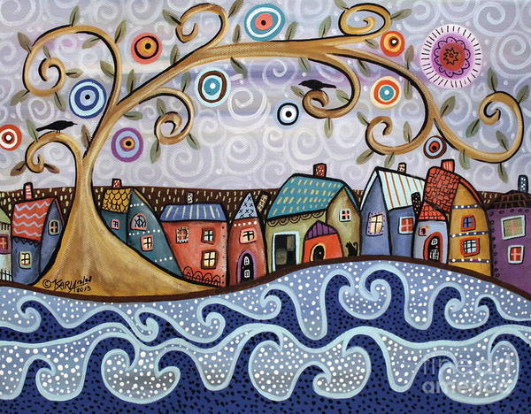 Lake House Painting - By The Sea by Karla Gerard