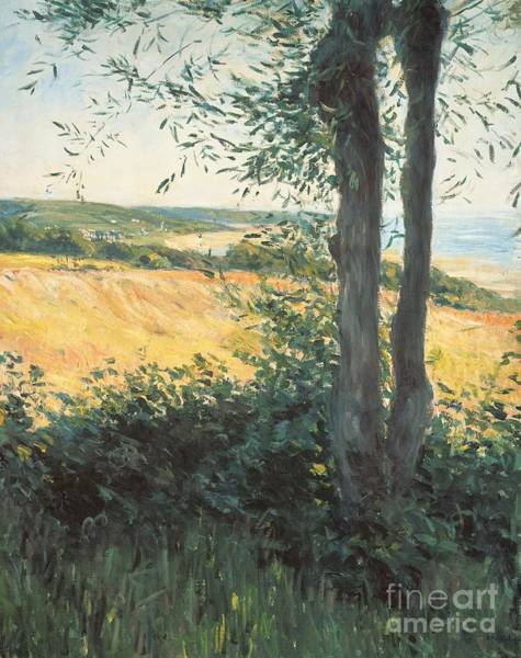 Fresh Paint Painting - By The Sea Normandy  by Gustave Caillebotte