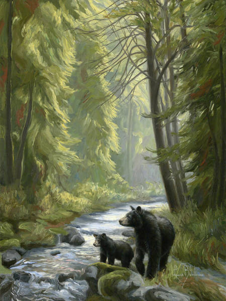 Painting - By The Stream by Lucie Bilodeau