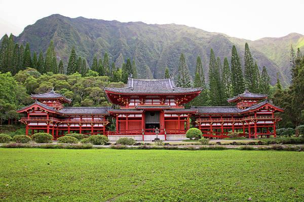 Big Island Photograph - Byodo-in Temple by Daniela Duncan