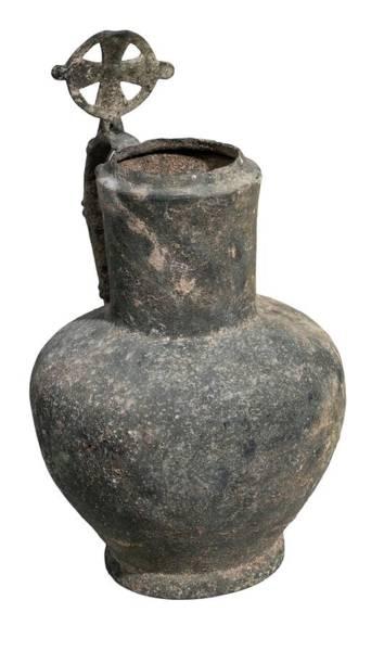 Holy Land Photograph - Byzantine Bronze Ewer by Photostock-israel