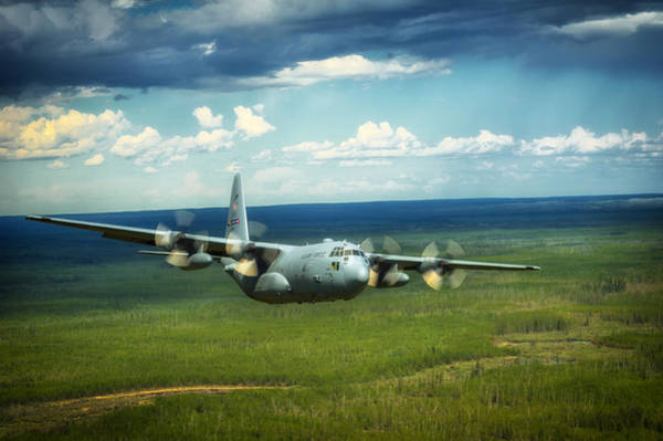 C 130 Photograph - C-130 Hercules Over Canada by Mountain Dreams