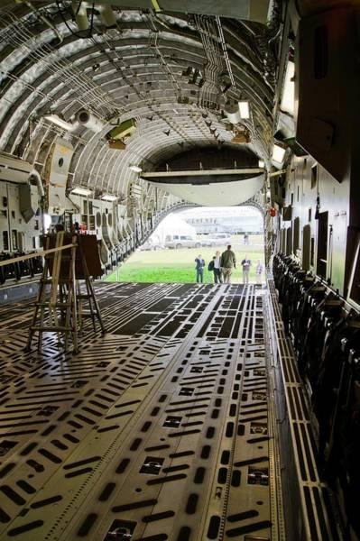 C-17 Photograph - C-17 Globemaster Cargo Bay by Mark Williamson