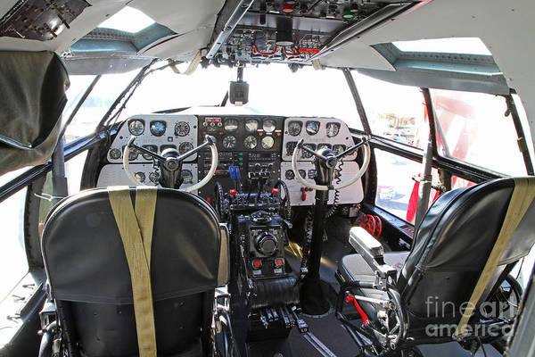 Photograph - C-46 Commando Aircraft Cockpit by Kevin McCarthy