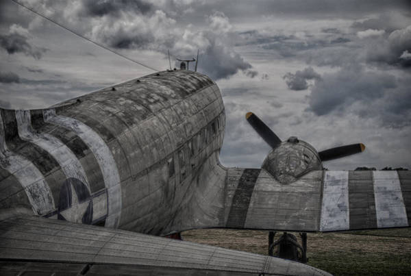 Photograph - C-47 In Hdr by Guy Whiteley