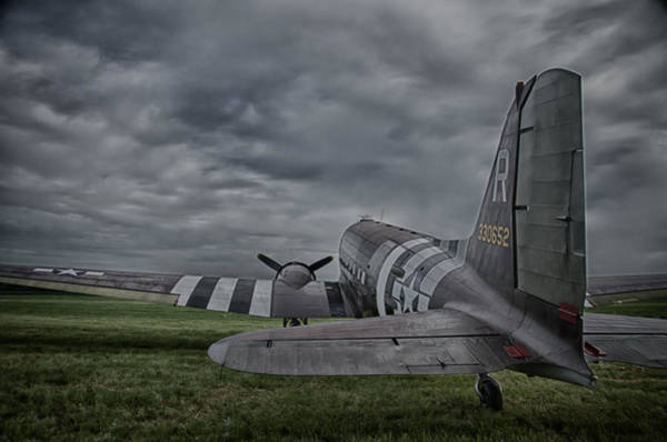 Photograph - C-47 On Grass by Guy Whiteley