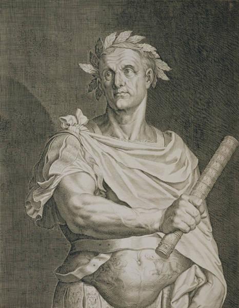 Laurel Wall Art - Drawing - C. Julius Caesar Emperor Of Rome by Titian