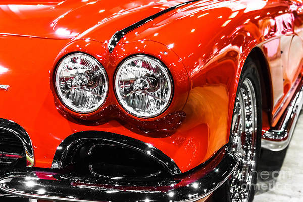 American Car Photograph - C1 Red Chevrolet Corvette Picture by Paul Velgos