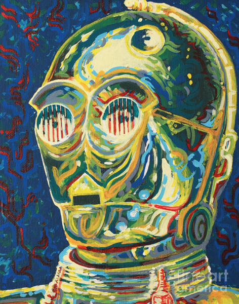 Star Wars Movie Painting - C3p0 by Jesse Quinn Mayorga