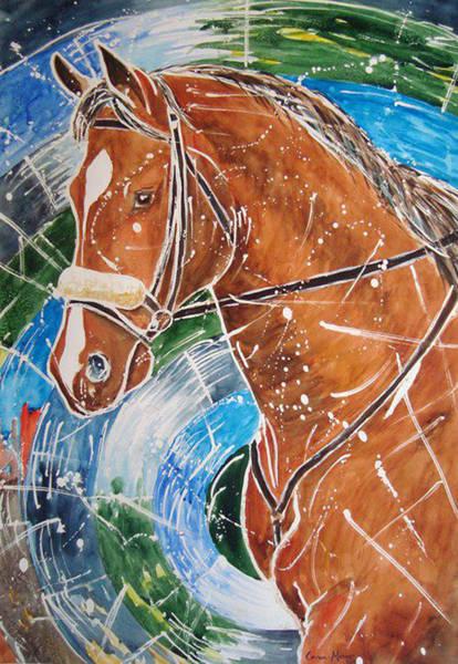 Horsemanship Painting - Caballo by German Rafael Correa-Moraes Vaz