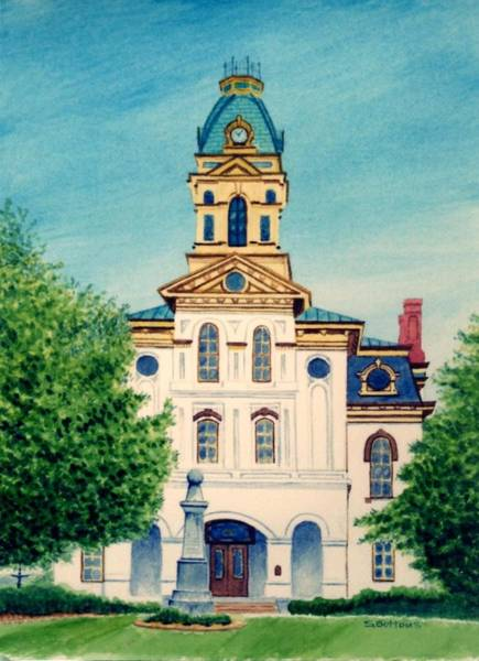 Courthouse Painting - Cabarrus County Courthouse by Stacy C Bottoms