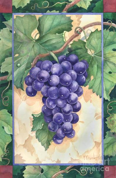Wall Art - Painting - Cabernet Grapes by Paul Brent