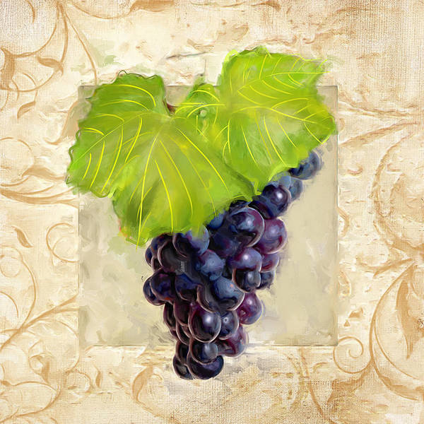 Bread And Wine Painting - Cabernet Sauvignon II by Lourry Legarde