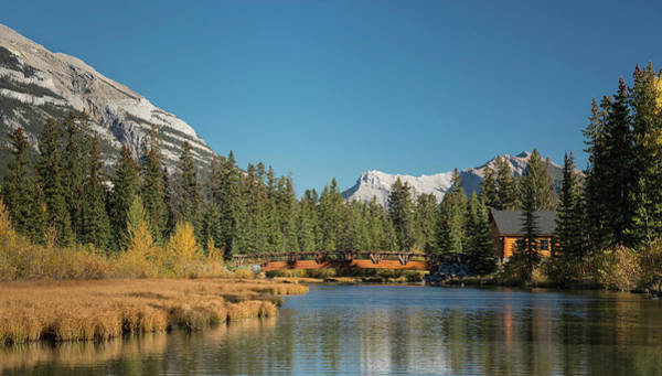 Canmore Wall Art - Photograph - Cabin And Bridge On Policemans Creek by Panoramic Images