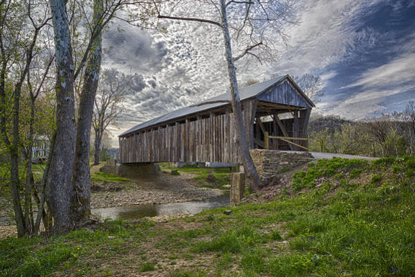Photograph - Cabin Creek Covered Bridge by Jack R Perry