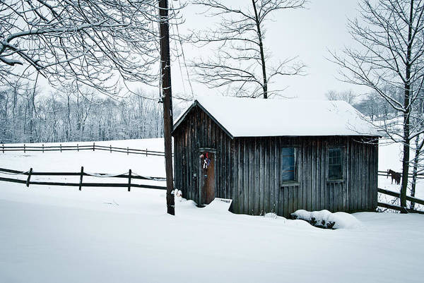Wall Art - Photograph - Cabin In Snow by Nickaleen Neff