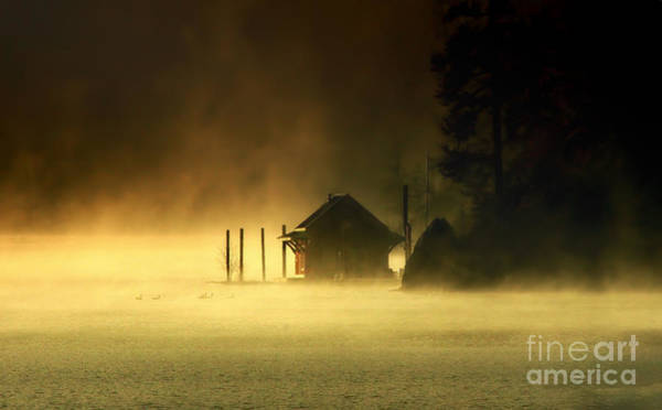 Wall Art - Photograph - Cabin In The Mist by Scarlett Images Photography