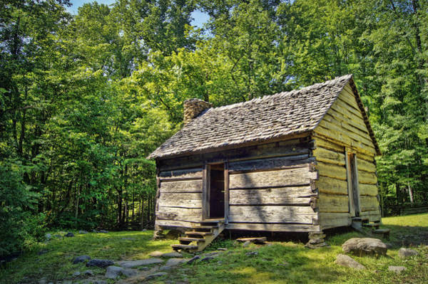 Cabin In The Woods Wall Art - Photograph - Cabin In The Smokies by Cricket Hackmann