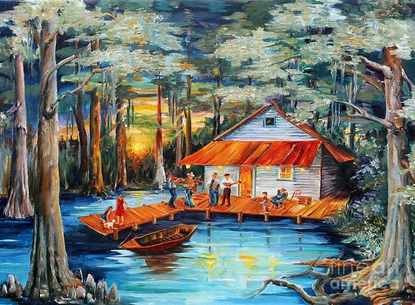 Swamp Painting - Cabin In The Swamp by Diane Millsap