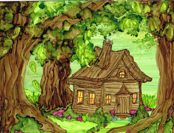 Painting - Cabin In The Woods  by Kelly Dallas