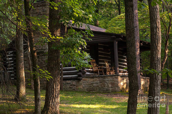 Wall Art - Photograph - Cabin In The Woods At Lost River State Park In West Virginia by William Kuta