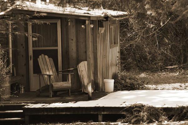Digital Art - Cabin Porch by Kirt Tisdale
